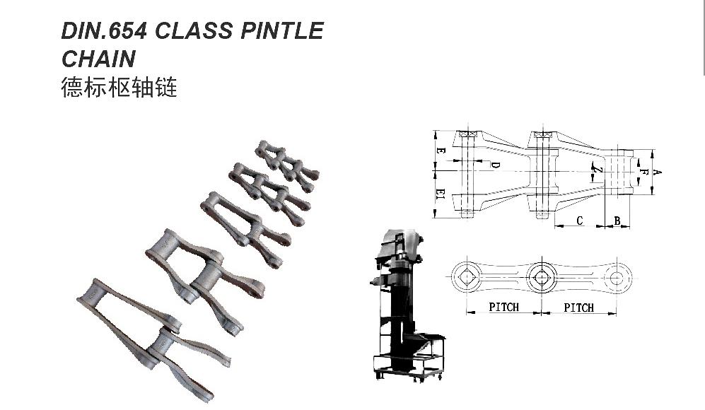 PINTLE CHAIN 442 445 452 etc.... din.654 class pintle chain1